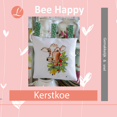Bee Happy handwerkpakket Kerstkoe